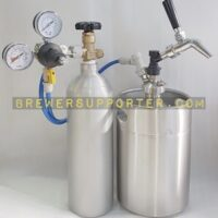 5L growler with Co2 tank set 2