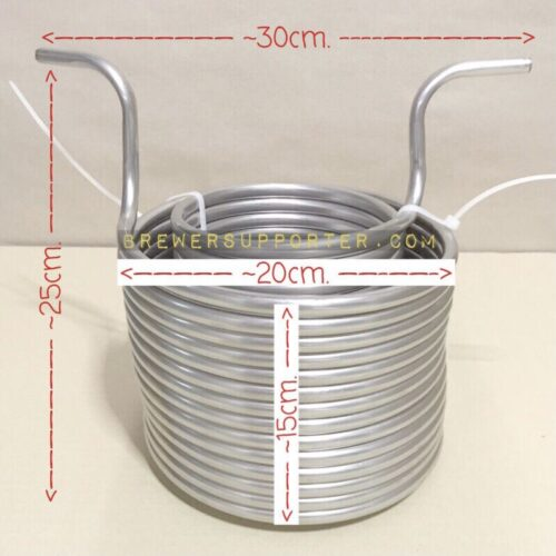 SS304 double coil 15m