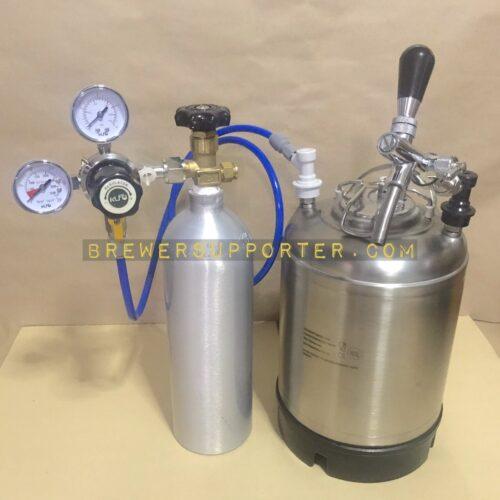 10L Ball lock keg with Co2 tank set 2
