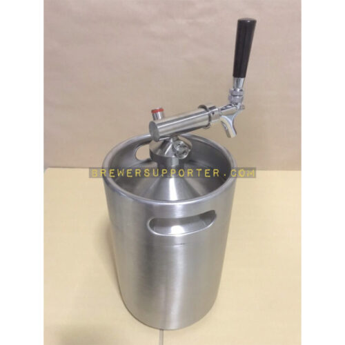 5L growler with gas post 1 (Snap tap)